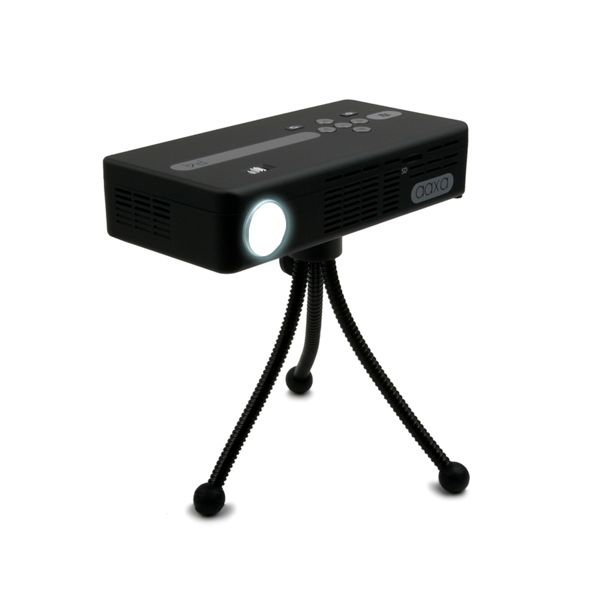 Aaxa p4 grabs great reviews pico projector fans for Portable pocket projector reviews
