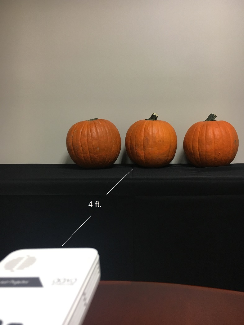 once your projector is set up in the correct place it should only take some fine tuning to get your projection to line up with your pumpkins